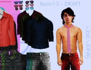 Joe Jonas Dress-up WIP