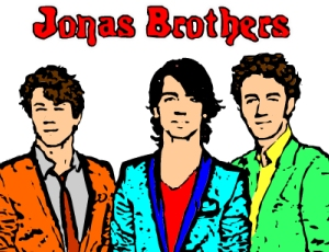Jonas Brothers Color Game